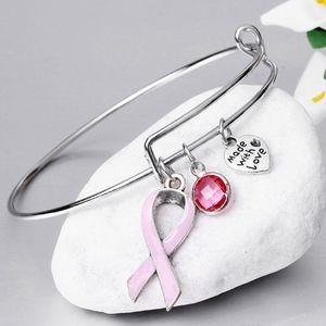 Breast Cancer Awareness Ribbon Bangle